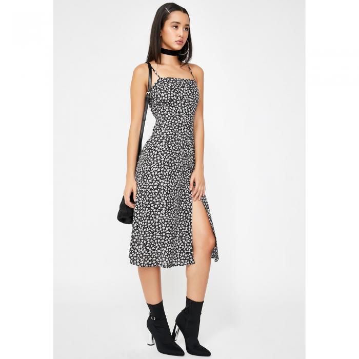 MOTEL ローズ ドレス 黒 ブラック 【 ROSE BLACK MOTEL DITSY KAOYA DRESS 】 レディースファッション ドレス