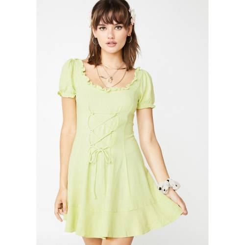 ETOPHE STUDIOS 【 PRAIRIE BABE BABYDOLL DRESS GREEN 】 レディースファッション ワンピース 送料無料