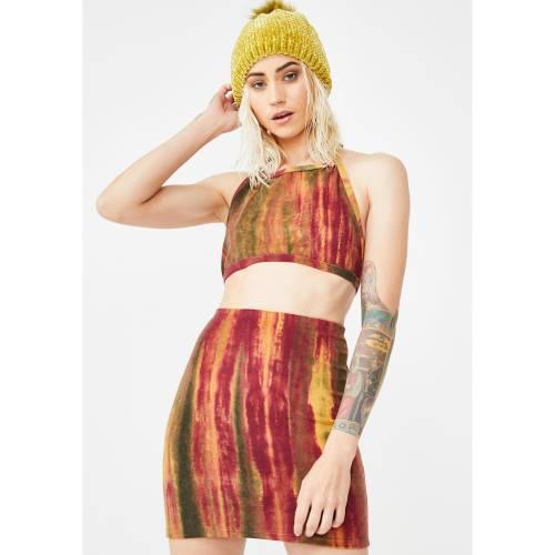 WHY NOT US ボルケーノ ヴォルケーノ レディースファッション 【 Volcano Set Up Skirt Set 】 Red