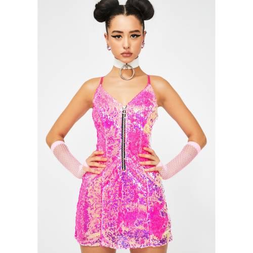 CLUB EXX クラブ ドレス ピンク 【 PINK CLUB EXX PIXIE PLAYROOM SEQUIN DRESS 】 レディースファッション ドレス