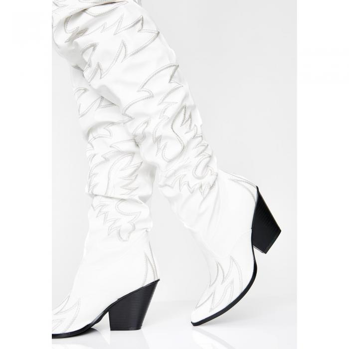 CAPE ROBBIN ピュア バンディット 【 Pure Love Bandit Cowgirl Boots 】 White