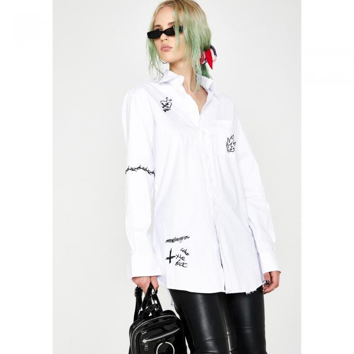 CURRENT MOOD 【 ILLEGAL BUSINESS POPLIN SHIRT WHITE 】 レディースファッション トップス シャツ ブラウス 送料無料