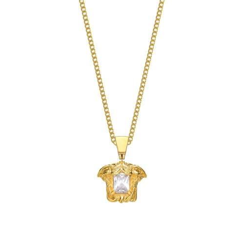 ファッションブランド カジュアル 爆安 特価キャンペーン ファッション アクセサリー MISTER 金色 ゴールド NECKLACE MEDUSA GOLD ジュエリー メンズジュエリー ネックレス GEM
