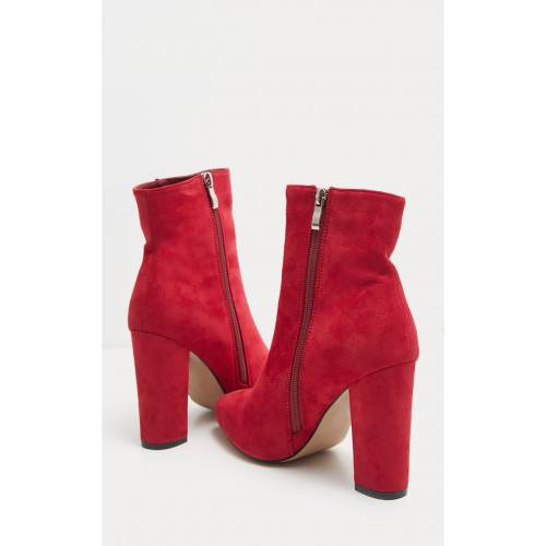 INDIGO 黒 ブラック スエード スウェード 【 BLACK BEHATI FAUX SUEDE ANKLE BOOTS RED 】 送料無料