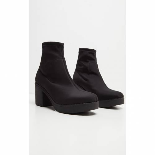 【スーパーセール中! 6/11深夜2時迄】KULTFASH 【 Prettylittlething Platform Sock Boots 】 Black