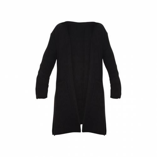 MIAFASHI レディースファッション トップス カーディガン ボレロ 【 Prettylittlething Pocket Detail Knitted Cardigan 】 Black
