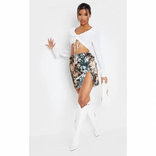 APPARELT レディースファッション トップス シャツ ブラウス 【 Prettylittlething Ruched Front Blouse 】 White