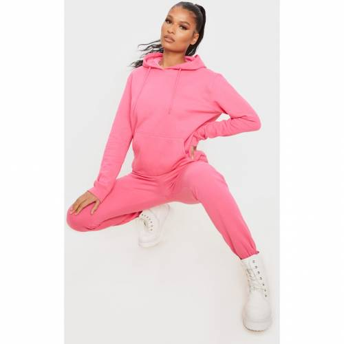 CREAT アルティメイト ピンク 【 ULTIMATE PINK CREAT PRETTYLITTLETHING OVERSIZED HOODIE CANDY 】 レディースファッション トップス パーカー