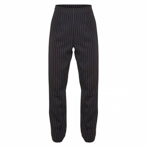 4FASHION 黒 ブラック 【 BLACK PETITE PINSTRIPE STRAIGHT LEG TROUSER 】 レディースファッション ボトムス パンツ 送料無料