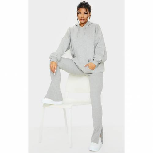 ZERO 灰色 グレ 【 ZERO PRETTYLITTLETHING OVERSIZED POCKET FRONT DRAWSTRING HOODIE GREY 】 レディースファッション トップス パーカー
