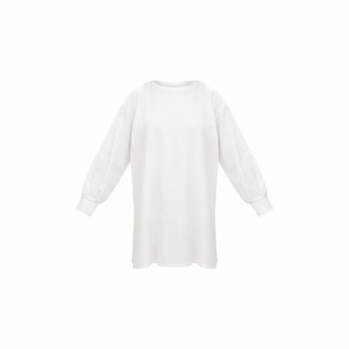 GLOBALLE ドレス 白 ホワイト 【 WHITE GLOBALLE PRETTYLITTLETHING OVERSIZED SWEATER DRESS 】 レディースファッション ドレス
