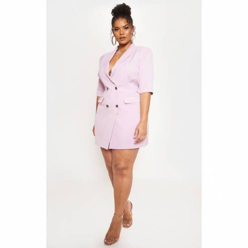【スーパーセール中! 6/11深夜2時迄】UNIQUE21 スリーブ ブレーザー ブレイザー ドレス 【 Prettylittlething 3/4 Sleeve Blazer Dress 】 Pale Pink