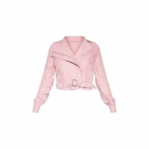 4FASHION 【 Prettylittlething Tall Biker Zip Up Jacket 】 Rose