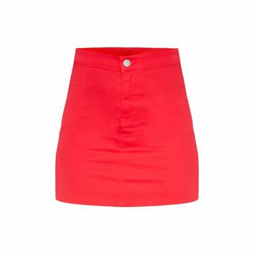 JANDB デニム レディースファッション ボトムス スカート 【 Prettylittlething Disco Fit Denim Skirt 】 Red