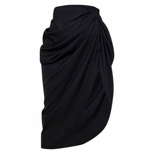 4FASHION レディースファッション ボトムス スカート 【 Prettylittlething Petite Ruched Side Midi Skirt 】 Black