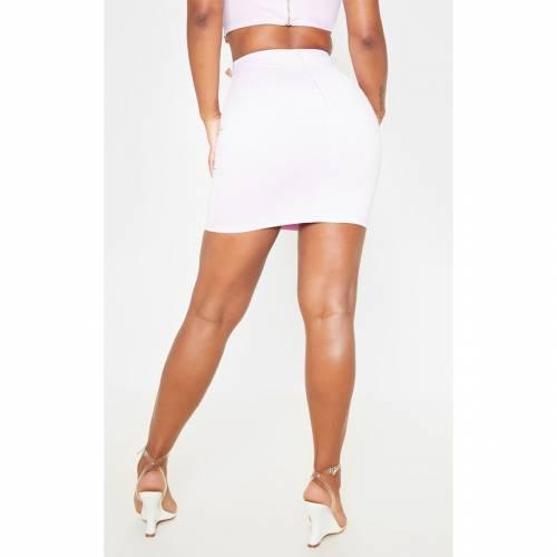 MOGU ジャージ ベルト レディースファッション ボトムス スカート 【 Prettylittlething Jersey Belt Detail Mini Skirt 】 Lilac