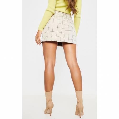MASTAN_G ウーブン 【 WOVEN STONE CHECK A LINE SKIRT 】 レディースファッション ボトムス スカート