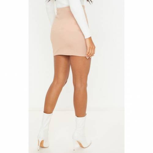 CTG_CLOT ラップ レディースファッション ボトムス スカート 【 Prettylittlething Belted Wrap Over A Line Skirt 】 Stone
