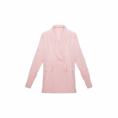 4FASHION ウーブン ブレーザー ブレイザー 【 Prettylittlething Oversized Triple Breasted Woven Boyfriend Blazer 】 Dusty Rose