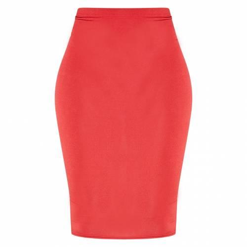 IMPRESS 橙 オレンジ 【 ORANGE BRIGHT SLINKY MIDI SKIRT SCARLET 】 レディースファッション ボトムス スカート