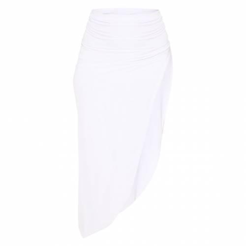 IMPRESS 赤 レッド 【 RED SLINKY SPLIT LEG SKIRT WHITE 】 レディースファッション ボトムス スカート