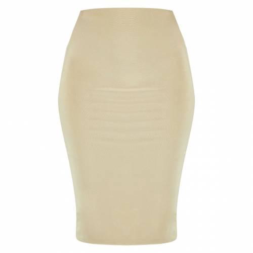 AMBREDES 白 ホワイト 【 WHITE SECOND SKIN SLINKY MIDI SKIRT SAGE GREEN 】 レディースファッション ボトムス スカート