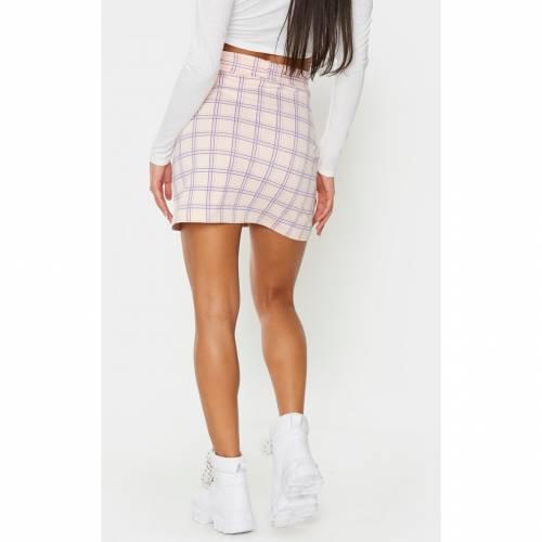CTG_CLOT レディースファッション ボトムス スカート 【 Prettylittlething Snake Print Belted Mini Skirt 】 Pink