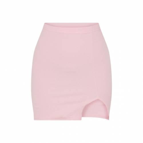 FASH カーキ 【 KHAKI SPLIT MINI SKIRT DUSTY PINK 】 レディースファッション ボトムス スカート