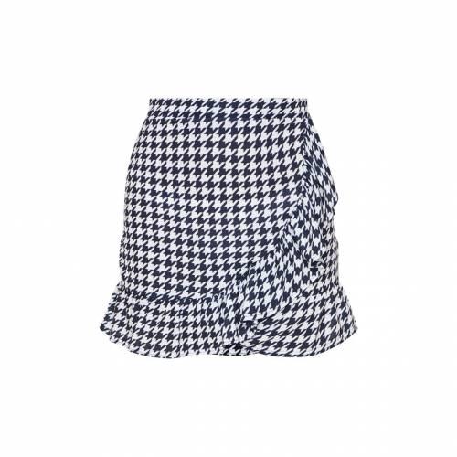 MINEANDY ラップ レディースファッション ボトムス スカート 【 Prettylittlething Baroque Print Frill Hem Wrap Mini Skirt 】 Black