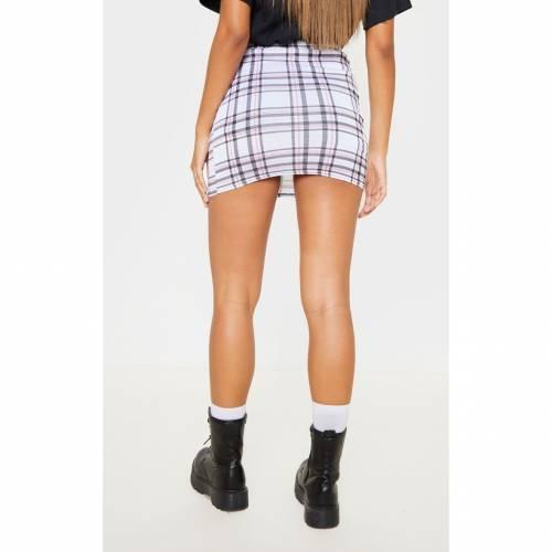 FASH 【 TARTAN CHECK PRINT MINI SKIRT MONOCHROME 】 レディースファッション ボトムス スカート