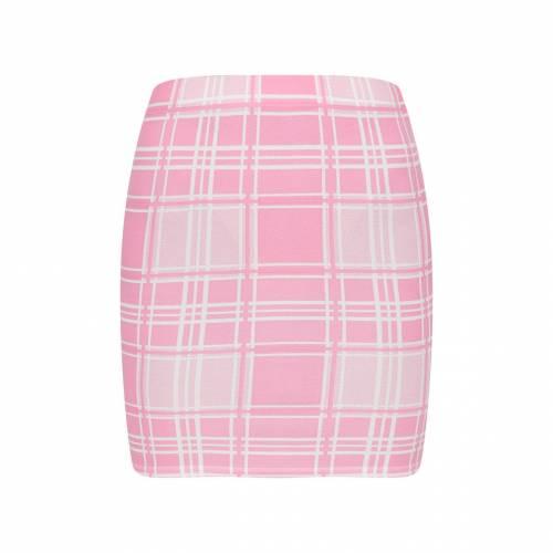 FASH 【 TARTAN CHECK PRINT MINI SKIRT PINK 】 レディースファッション ボトムス スカート