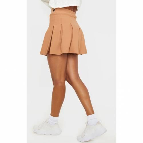 CTG_CLOT キャメル テニス 【 CAMEL PLEATED SIDE SPLIT TENNIS SKIRT 】 レディースファッション ボトムス スカート