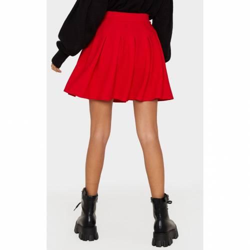 CTG_CLOT キャメル テニス 【 CAMEL PLEATED SIDE SPLIT TENNIS SKIRT RED 】 レディースファッション ボトムス スカート