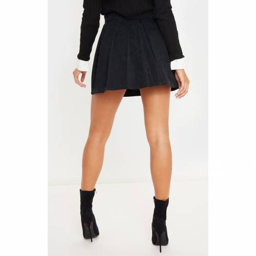 R_FAMOUS レディースファッション ボトムス スカート 【 Prettylittlething Cord Skater Skirt 】 Black