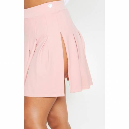 CTG_CLOT ピンク テニス 【 PINK DUSTY PLEATED SIDE SPLIT TENNIS SKIRT 】 レディースファッション ボトムス スカート