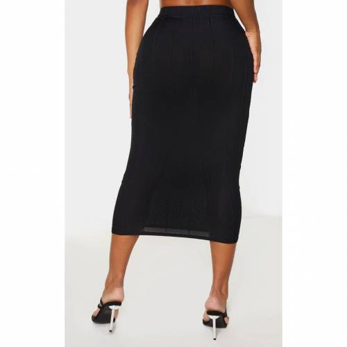 3AFASH ハイ 【 SHAPE MOCHA BANDAGE HIGH WAIST MIDI SKIRT BLACK 】 レディースファッション ボトムス スカート