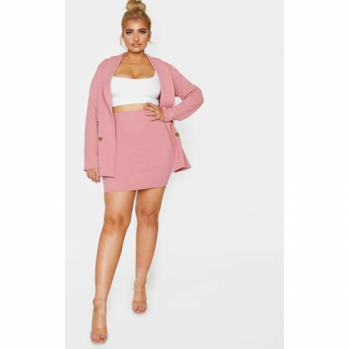 MASTAN_G レディースファッション ボトムス スカート 【 Prettylittlething Plus Mini Skirt 】 Pink