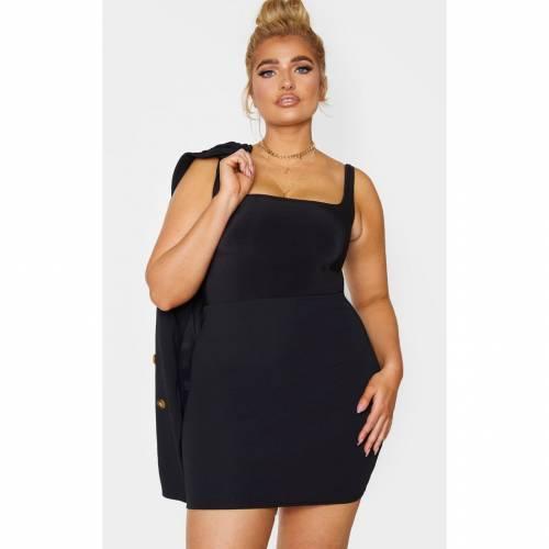 MASTAN_G レディースファッション ボトムス スカート 【 Prettylittlething Plus Mini Skirt 】 Black