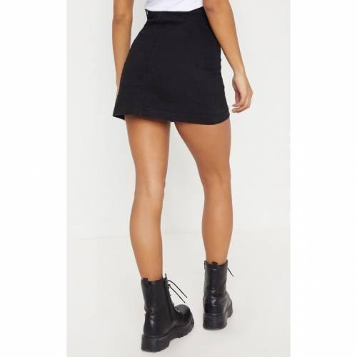 COSMIC デニム 【 LIGHT WASH CAMMIE DENIM MINI SKIRT BLACK 】 レディースファッション ボトムス スカート