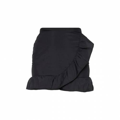 ASK__TRA 黒 ブラック ラップ 【 BLACK WRAP FRILL HEM MINI SKIRT 】 レディースファッション ボトムス スカート