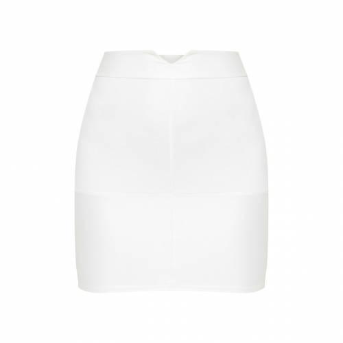 XPLORE レディースファッション ボトムス スカート 【 Prettylittlething Coated Panel Mini Skirt 】 Cream