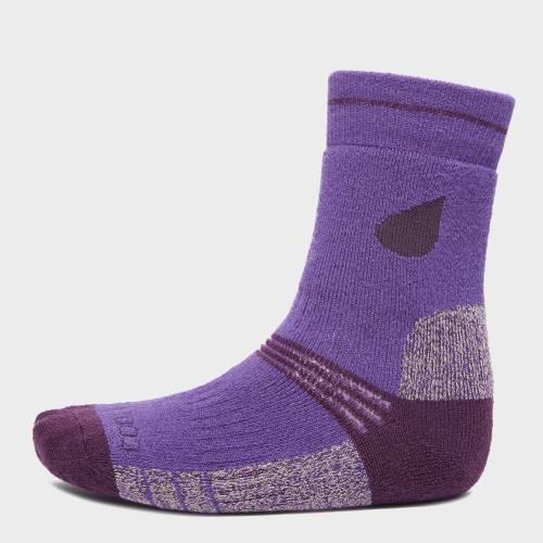 ファッションブランド カジュアル ファッション 紫 パープル 2個入 ジュニア セール価格 MIDWEIGHT キッズ STORM TREKKING PETER SOCK PURPLE 通信販売