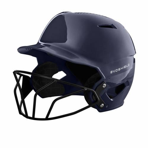 ファッションブランド 高い素材 野球 EVO SHIELD バッティング ヘルメット ハイ 紺色 ネイビー メンズ FINISH WITH FACEMASK NAVY HIGH BATTING SOFTBALL XVT 往復送料無料 GLOSS HELMET