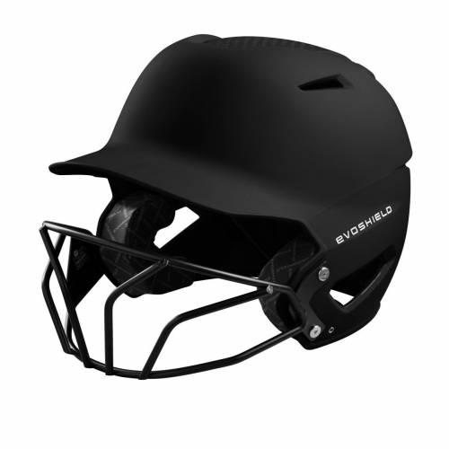 ファッションブランド 野球 EVO SHIELD バッティング ヘルメット 黒色 ブラック 宅配便送料無料 メンズ FINISH SOFTBALL HELMET BLACK FACEMASK MATTE BATTING XVT セール特価 WITH