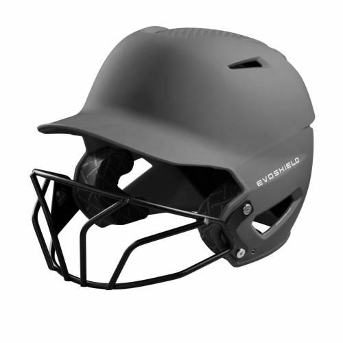 ファッションブランド 野球 EVO SHIELD バッティング ヘルメット チャコール メンズ 保証 HELMET MATTE XVT WITH FINISH CHARCOAL FACEMASK BATTING 限定タイムセール SOFTBALL