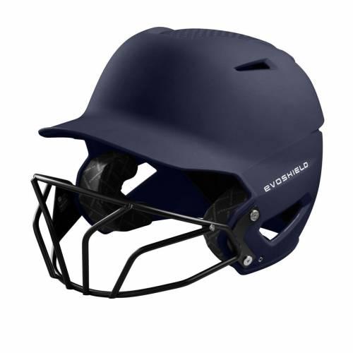 ファッションブランド 野球 EVO SHIELD バッティング ヘルメット おトク 紺色 全国一律送料無料 ネイビー メンズ FACEMASK XVT BATTING MATTE NAVY WITH FINISH SOFTBALL HELMET