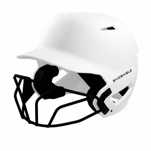 ファッションブランド 野球 EVO SHIELD 超人気 専門店 バッティング ヘルメット 白色 ホワイト メンズ SOFTBALL FACEMASK HELMET MATTE BATTING WITH WHITE XVT 激安 FINISH