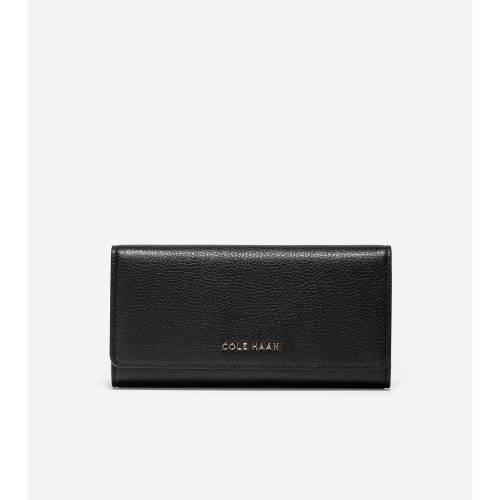 ファッションブランド カジュアル ファッション アクセサリー コールハーン 内祝い COLE HAAN SALENEW大人気 財布 黒色 CONTINENTAL WALLET FLAP バッグ ケース ブラック GRANDSERIES BLACK