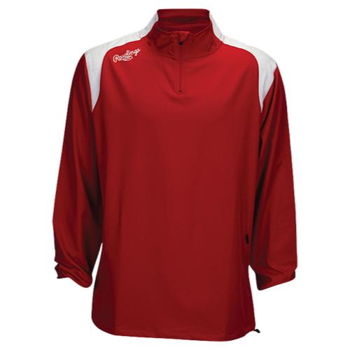 【海外限定】rawlings force long sleeve quarter zip jacket ローリングス スリーブ ジャケット メンズ