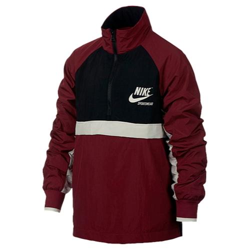 【海外限定】nike archive woven halfzip jacket gsgradeschool ナイキ ウーブン ジャケット gs(gradeschool) ジュニア キッズ マタニティ ベビー コート